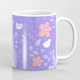 Cute bird and flower pattern Coffee Mug