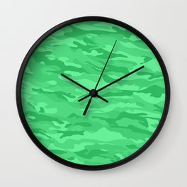 camuflaje 1 Wall Clock