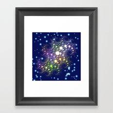Space Pearls Framed Art Print