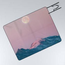 Moon and the Mountains – Landscape Photography Picnic Blanket