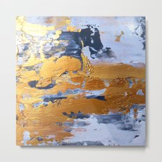 Gold in the ice Metal Print