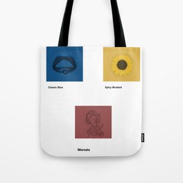 Primary Colour Paint Swatches Tote Bag