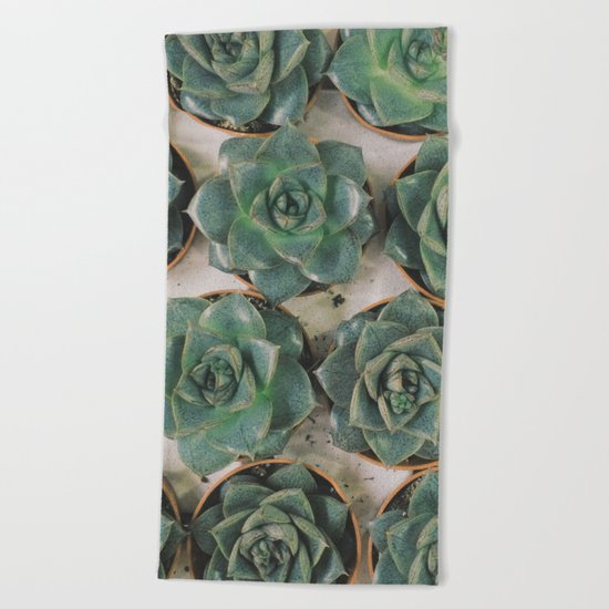 Succulent Collection Beach Towel