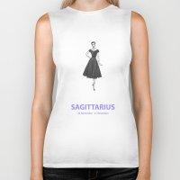 sagittarius Biker Tanks featuring Sagittarius by Cansu Girgin