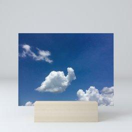 Snail cloud Mini Art Print