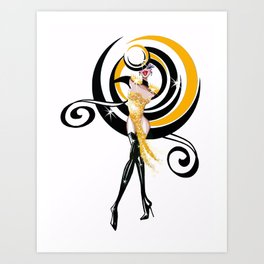 Magique Showgirl Fashion Show 1 Art Print
