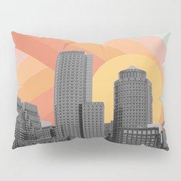 City Skyscraper Rainbow Sky Pillow Sham