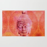buddha Area & Throw Rugs featuring Buddha by LebensART