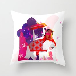 Saumyi and the Stars Throw Pillow