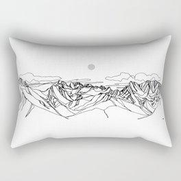 Smokey Rogers Pass Rectangular Pillow