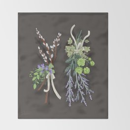bouquets Throw Blanket