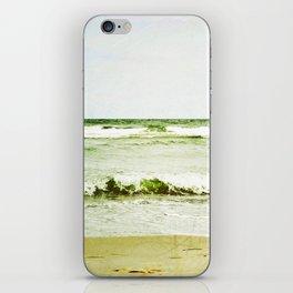 emerald waves iPhone Skin