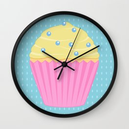 Colourful Cupcakes - Pink Wall Clock
