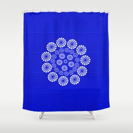 Mesmerized in Blue Shower Curtain