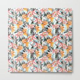 Fish pattern in the sea Metal Print