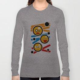 happy smiley trio Long Sleeve T-shirt
