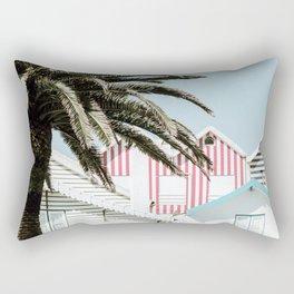 Candy Striped Houses Rectangular Pillow