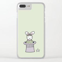 Magic Bunny Clear iPhone Case