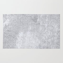 Abstract silver paper Rug