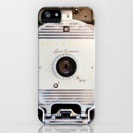 Polaroid 800 vintage camera iPhone Case