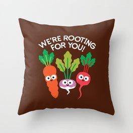 Motivegetable Speakers Throw Pillow