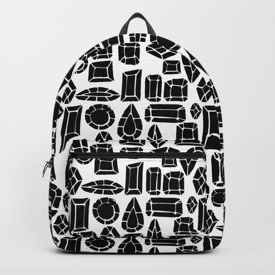 gemstone black and white Backpack