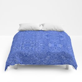 Gold ink inverted blue Comforters