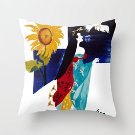 Madam Butterfly         by Kay Lipton Throw Pillow