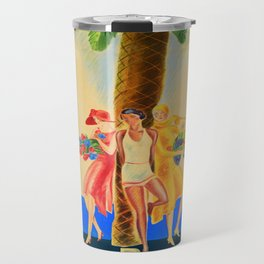 Palm Beach in Cannes, France Vintage Travel Travel Mug