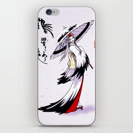 Grateful Crane by Nipponaisuki .....(Calligraphy)Hiroko Fukuda of Wakoshi iPhone Skin