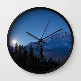 Moon Rising Over North Sister Wall Clock
