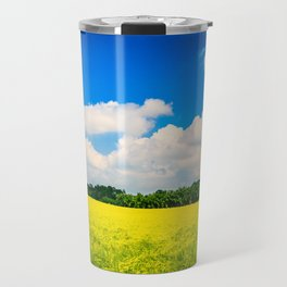 lonely tree in the fields of Italy Travel Mug