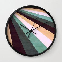 Stripes Coming Atcha Green Wall Clock