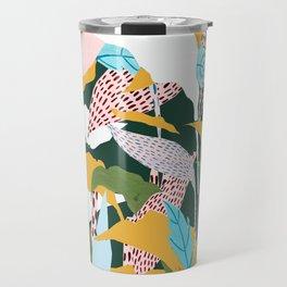 Fragmented Jungles Travel Mug