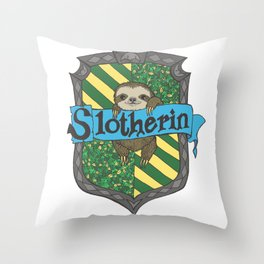 Slotherin Throw Pillow