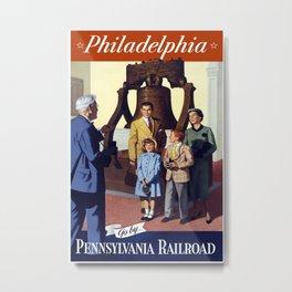 Vintage Pennsylvania Philadelphia Liberty Bell Metal Print