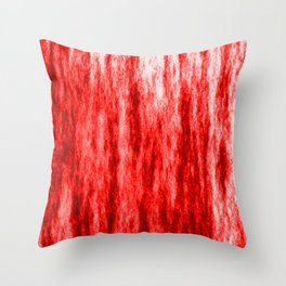 Bright texture of coated paper from red flowing waves on a dark fabric. Throw Pillow
