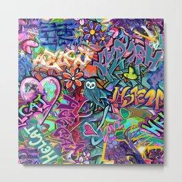 Graffiti at the Skate Park Metal Print