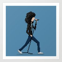 ramones Art Prints featuring Joey Ramone by Pixel Faces