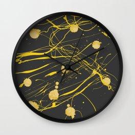 Gold Splash Wall Clock