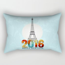 Happy New Year in Paris Rectangular Pillow