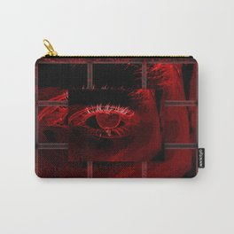 Neon Red Eye in Deep Ocean Carry-All Pouch