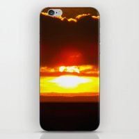 sunset iPhone & iPod Skins featuring Sunset by Aaron Carberry