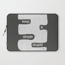 Kiss - Keep it simple stupid - Black and White Laptop Sleeve