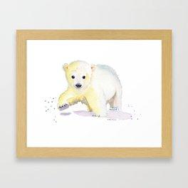 Little Polar Bear Framed Art Print