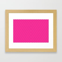 Blush Pink Chevron Framed Art Print