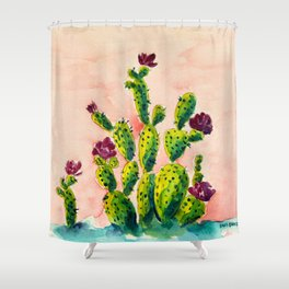 The Cactus Patch Shower Curtain