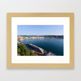 La Concha Bay. Donostia-San Sebastian, Spain. Framed Art Print