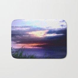 Coastal landscape and sunset. Bath Mat