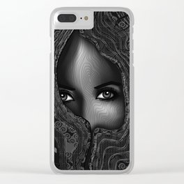 The Seer - Black & White Clear iPhone Case